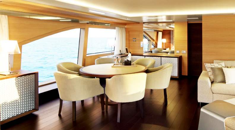 The Benetti Classic Supreme indoors