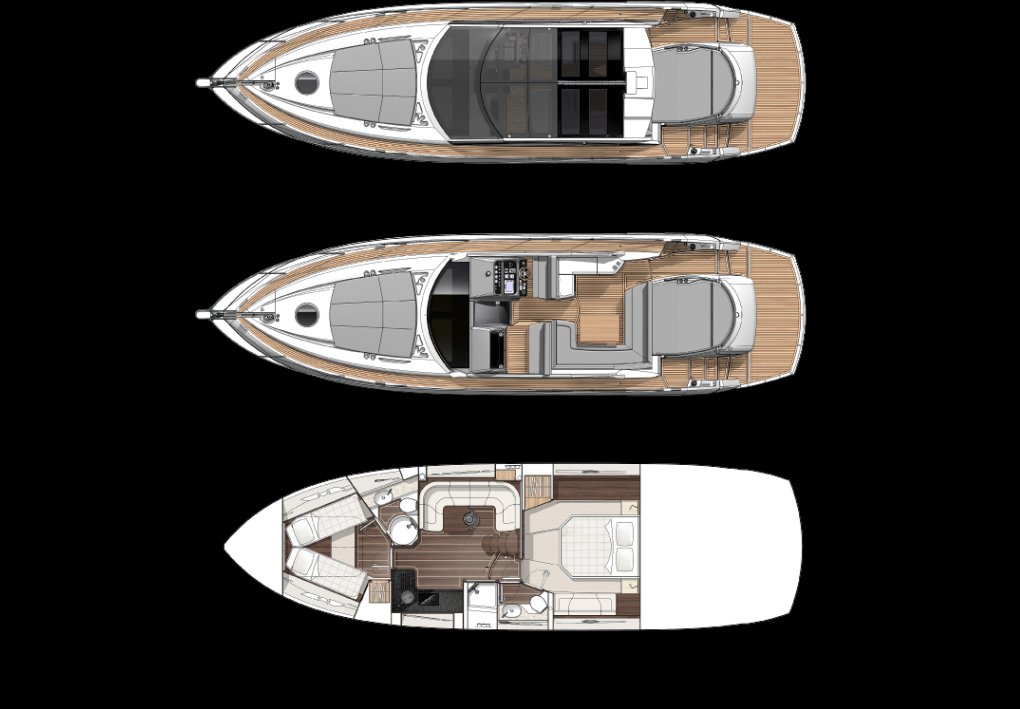 Boats for Sale Miami - Sunseeker San Remo Layout